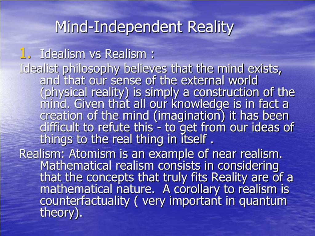Mind-Independent Reality
