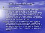 mind independent reality