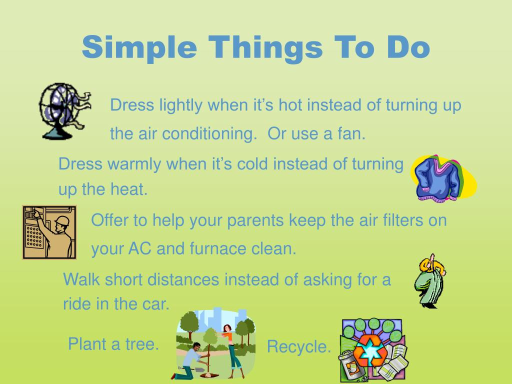 Simple Things To Do