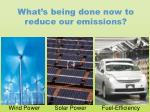 what s being done now to reduce our emissions