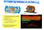 lhc pp collisions at 14 tev