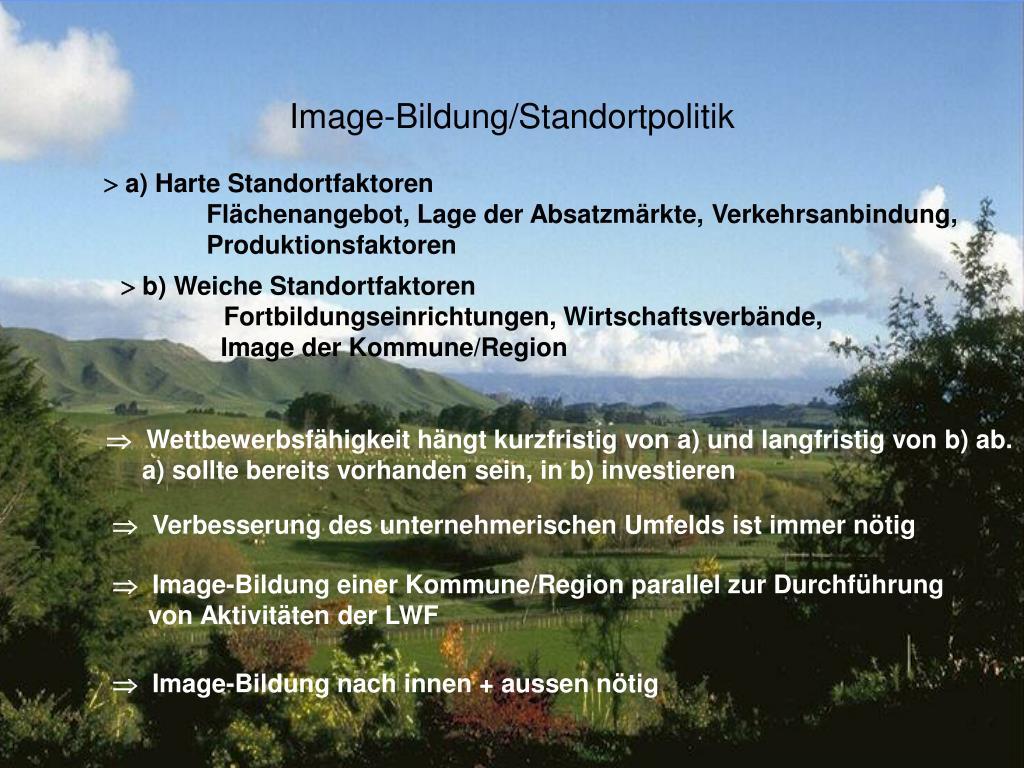 Image-Bildung/Standortpolitik