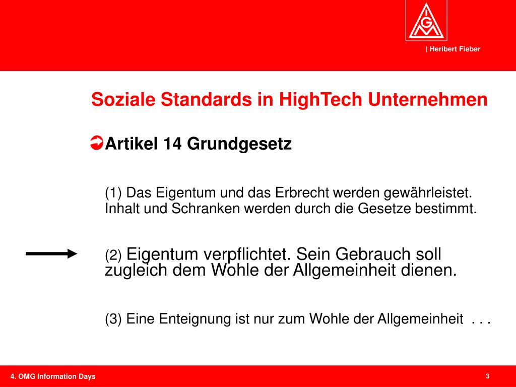Soziale Standards in HighTech Unternehmen