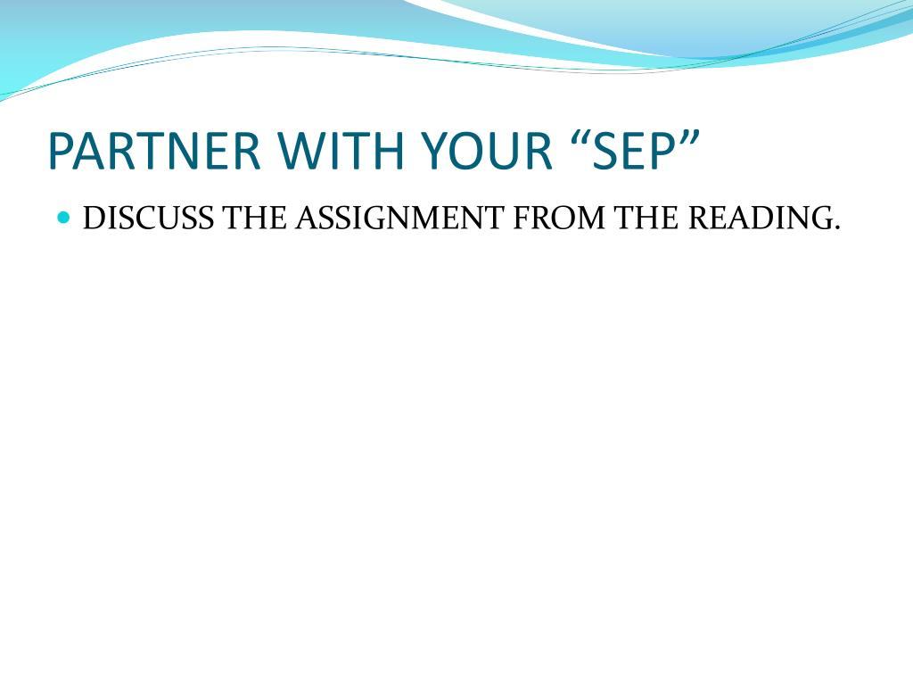 """PARTNER WITH YOUR """"SEP"""""""