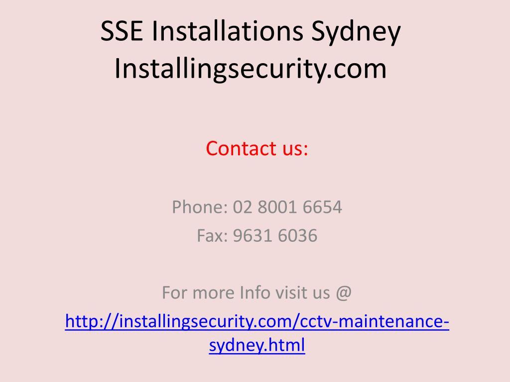 SSE Installations Sydney  Installingsecurity.com