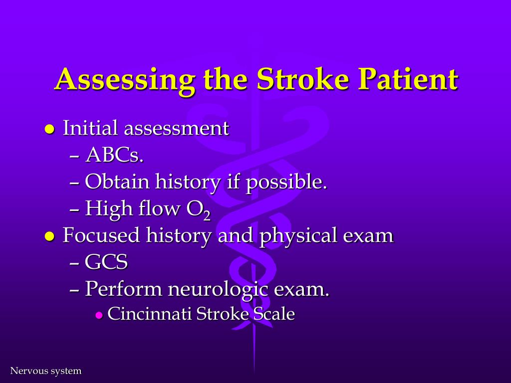 Assessing the Stroke Patient