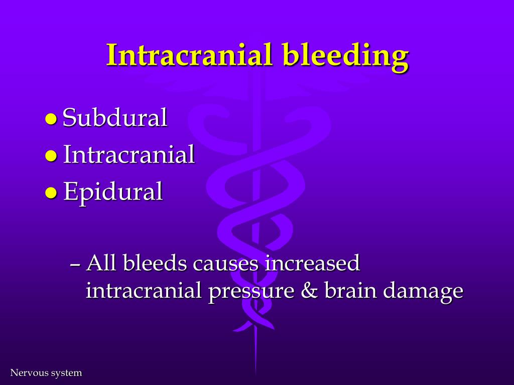Intracranial bleeding