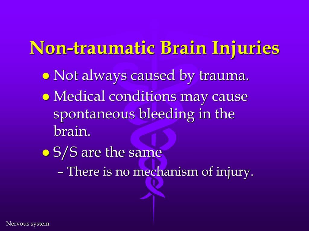 Non-traumatic Brain Injuries