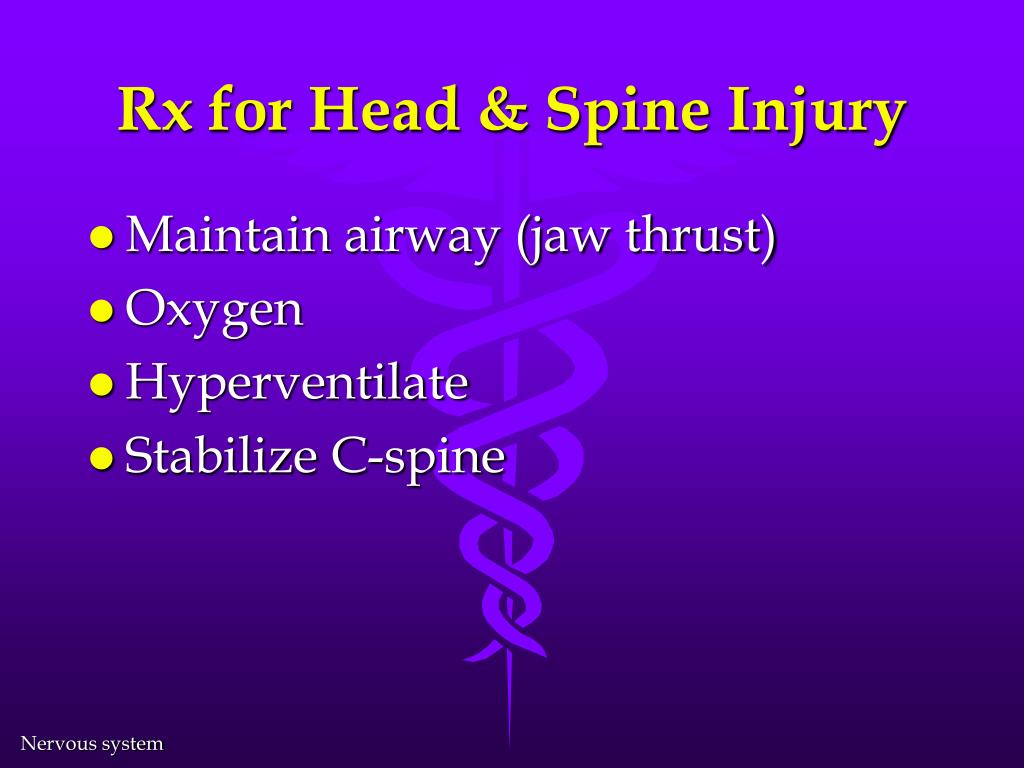 Rx for Head & Spine Injury