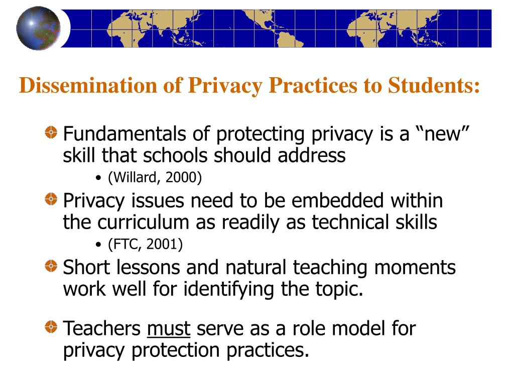 Dissemination of Privacy Practices to Students: