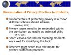 dissemination of privacy practices to students