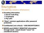 encryption enciphering sensitive information