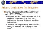 privacy legislation for educators