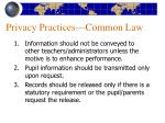 privacy practices common law