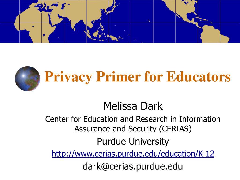 privacy primer for educators