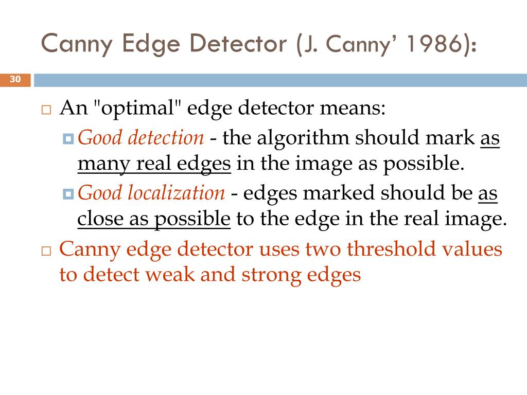 Canny Edge Detector (