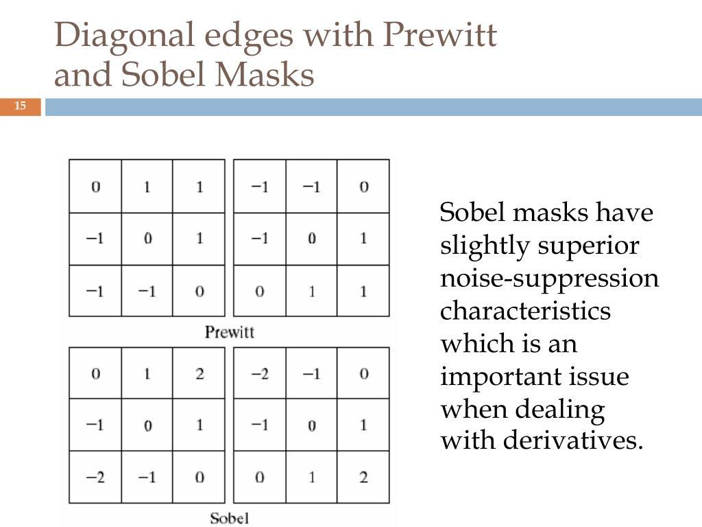 Diagonal edges with Prewitt