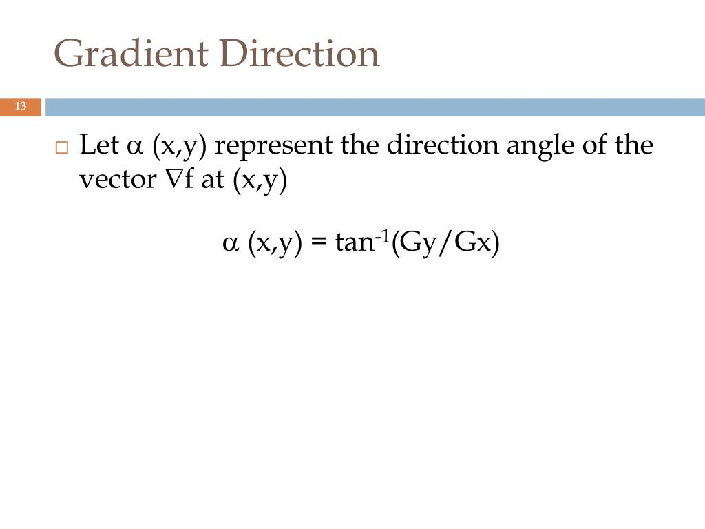 Gradient Direction