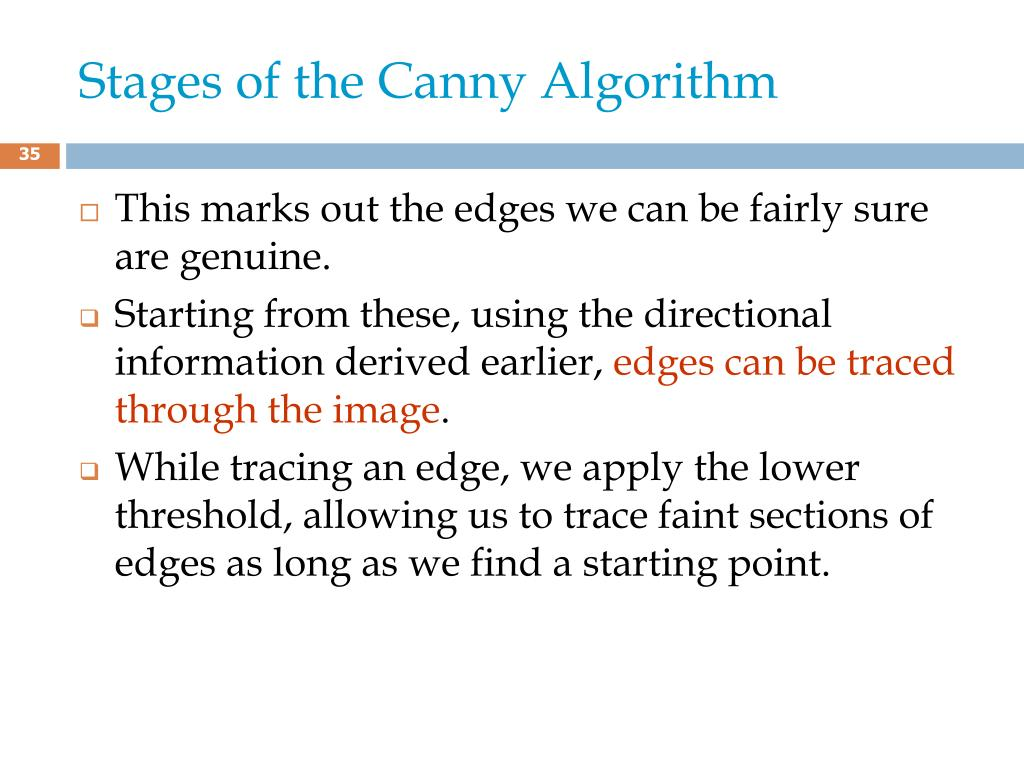 Stages of the Canny Algorithm