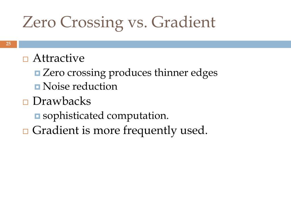 Zero Crossing vs. Gradient