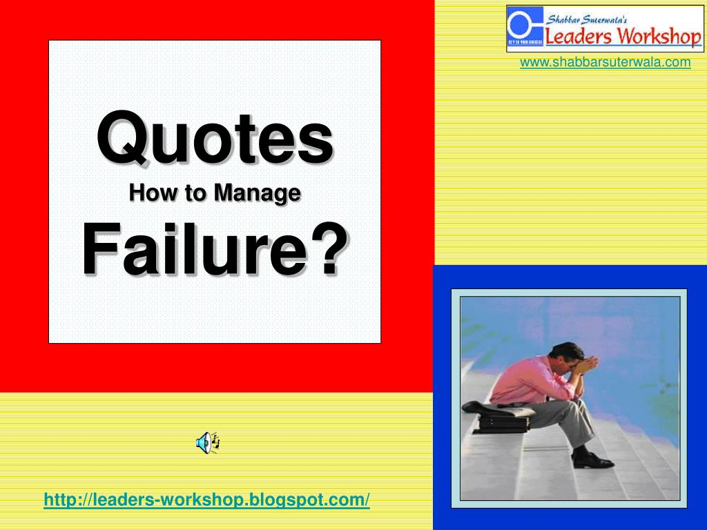 quotes how to manage failure