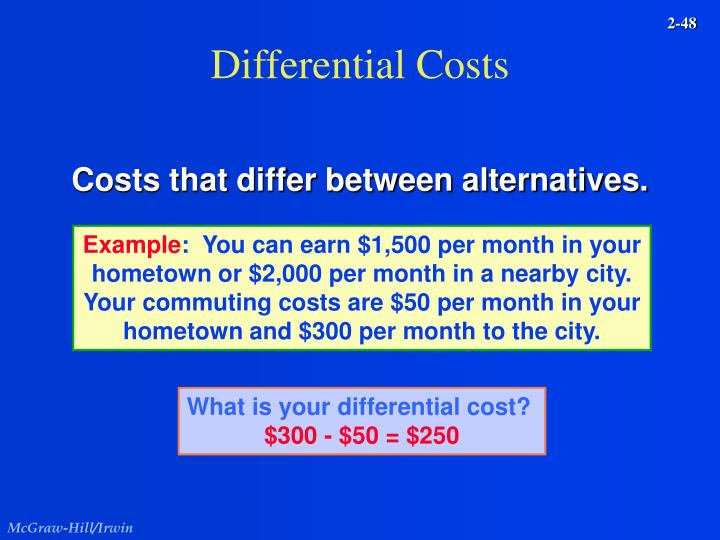 Differential Costs