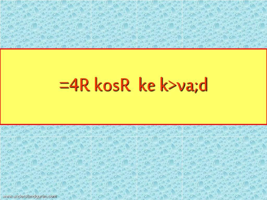 =4R kosR  ke k>va;d