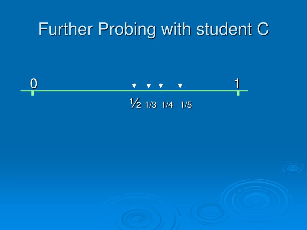 Further Probing with student C