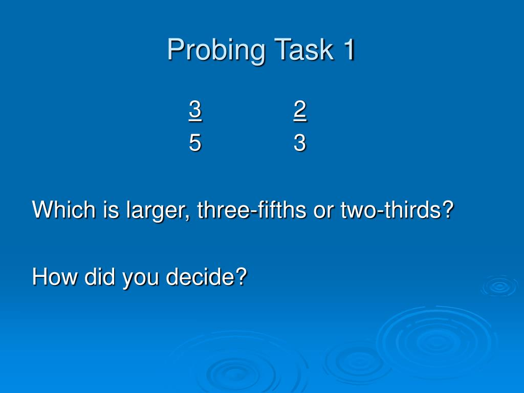 Probing Task 1
