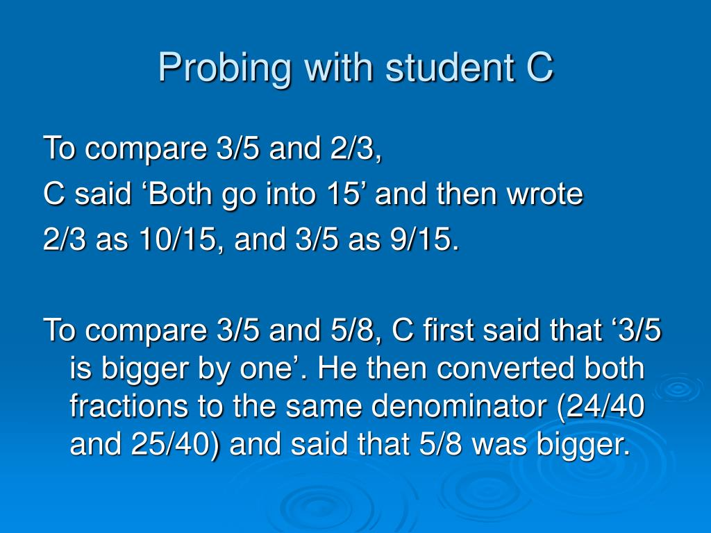 Probing with student C