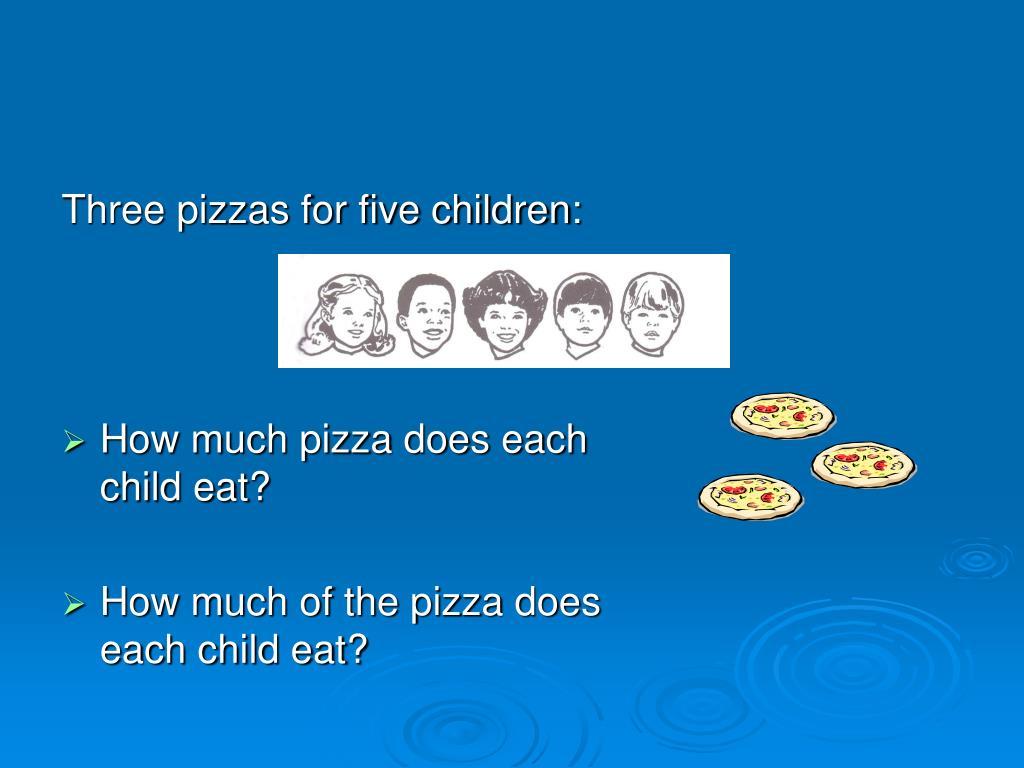 Three pizzas for five children: