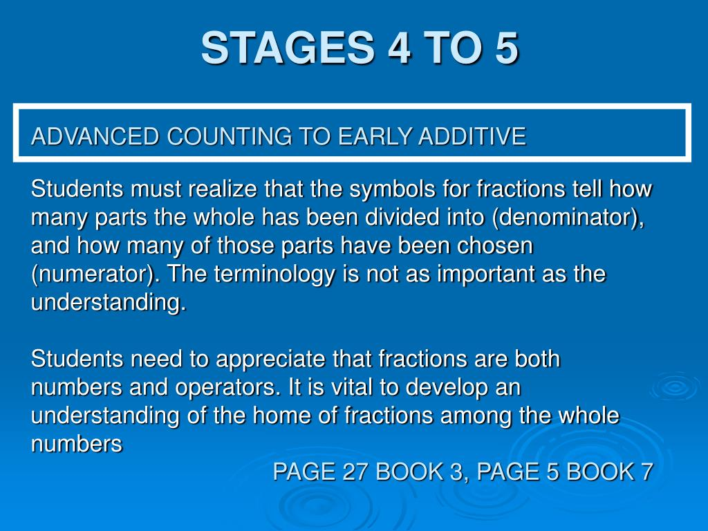STAGES 4 TO 5