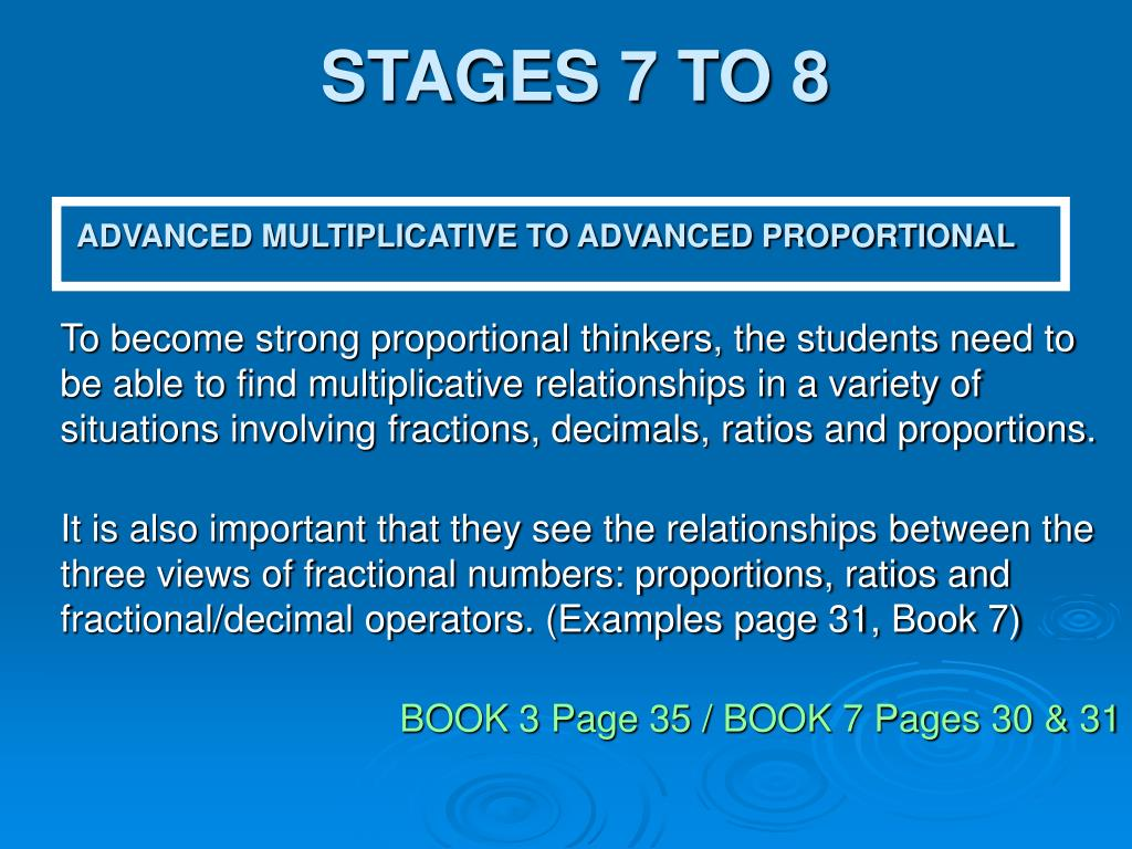 STAGES 7 TO 8