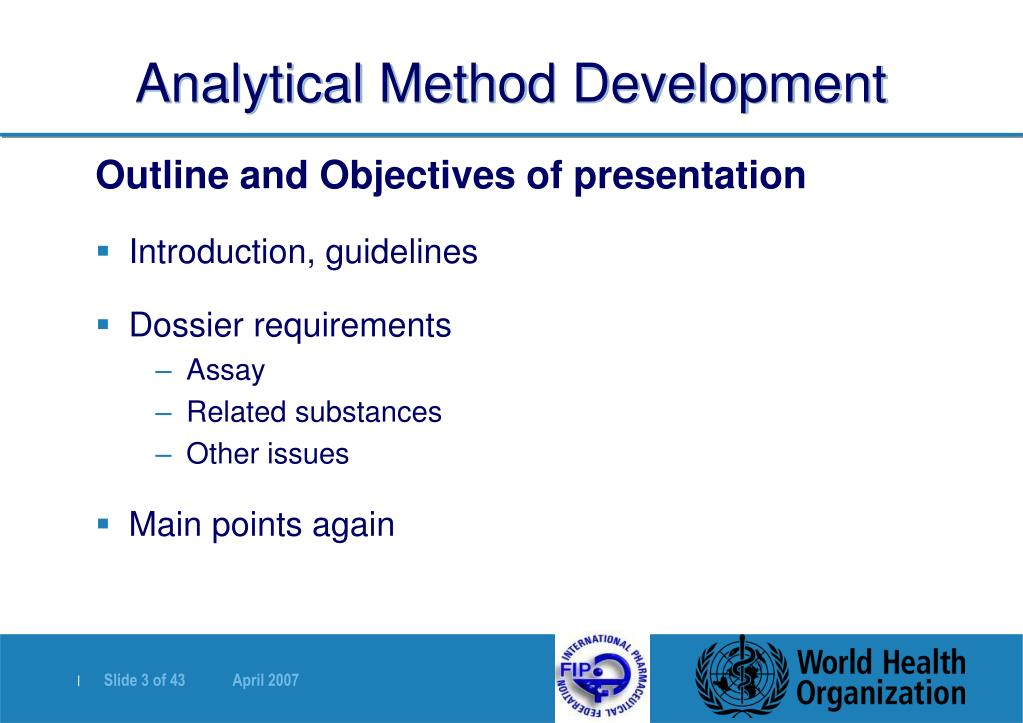 Analytical Method Development