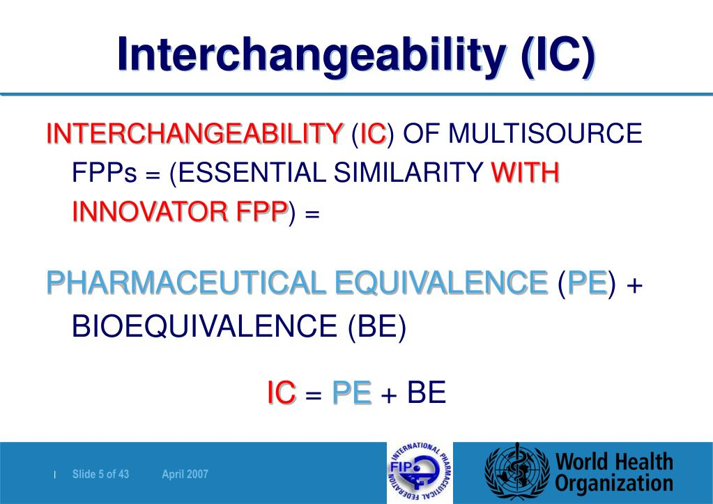 Interchangeability (IC)