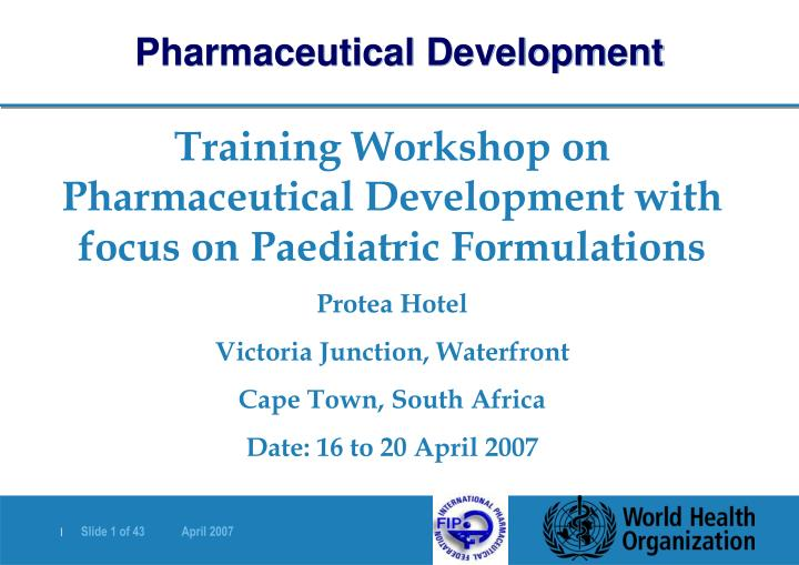 Pharmaceutical Development