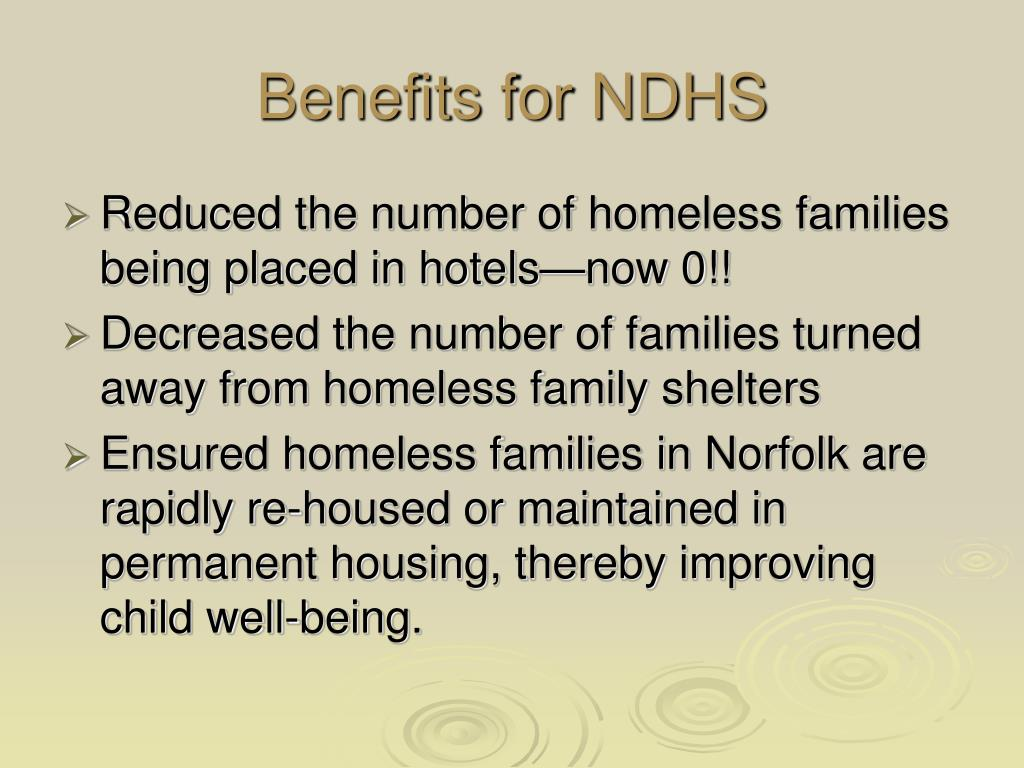Benefits for NDHS