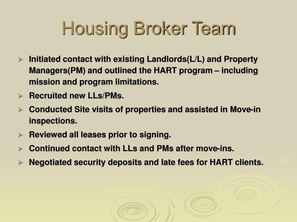 Broker team as