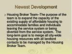 newest development