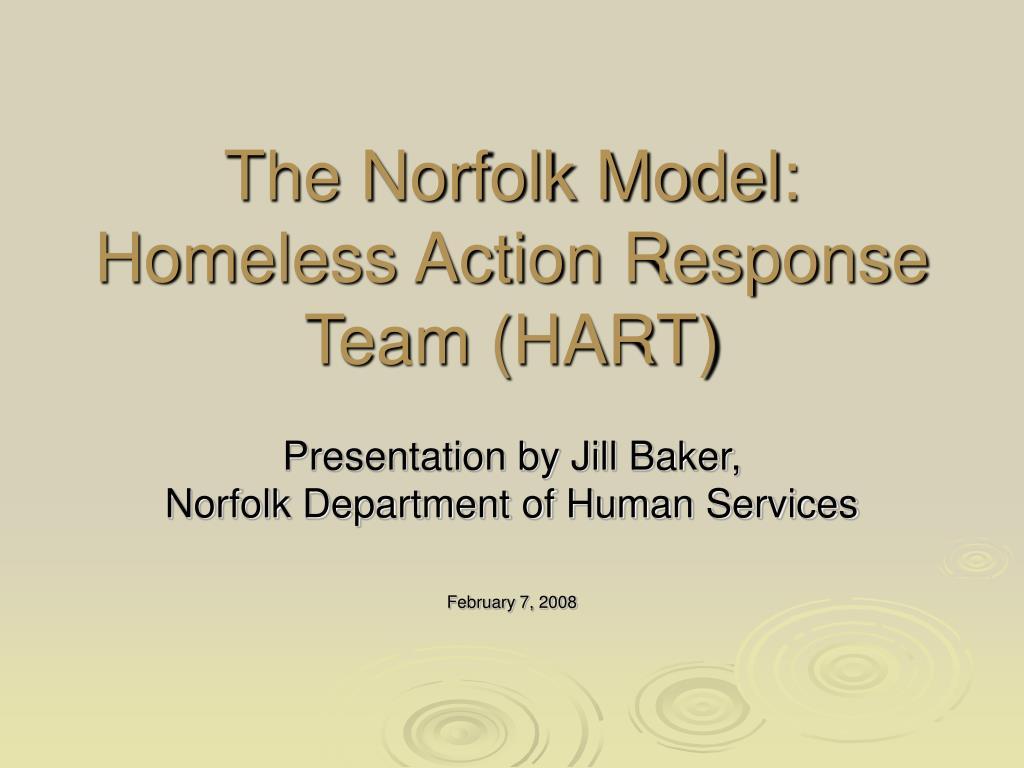 the norfolk model homeless action response team hart