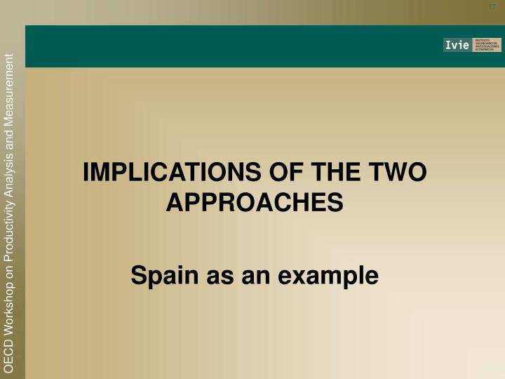 IMPLICATIONS OF THE TWO APPROACHES