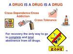 a drug is a drug is a drug