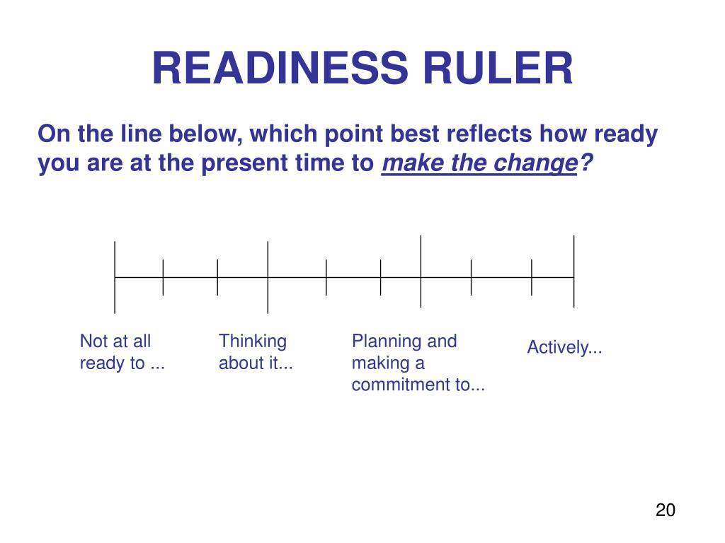 READINESS RULER
