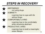 steps in recovery