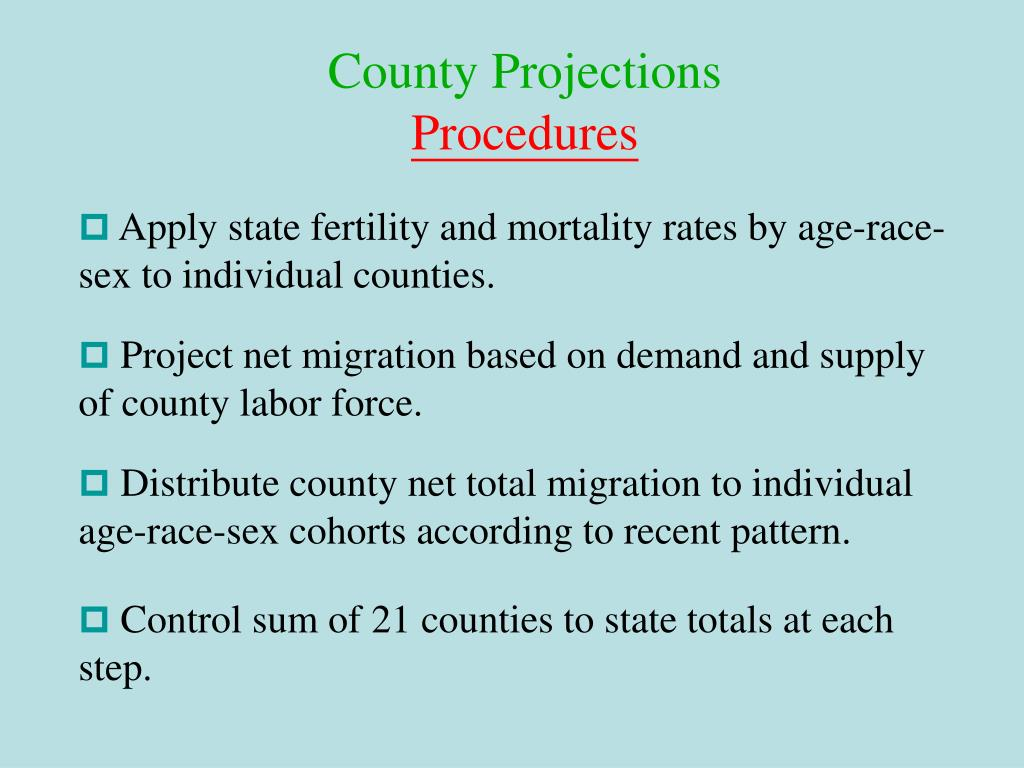 County Projections