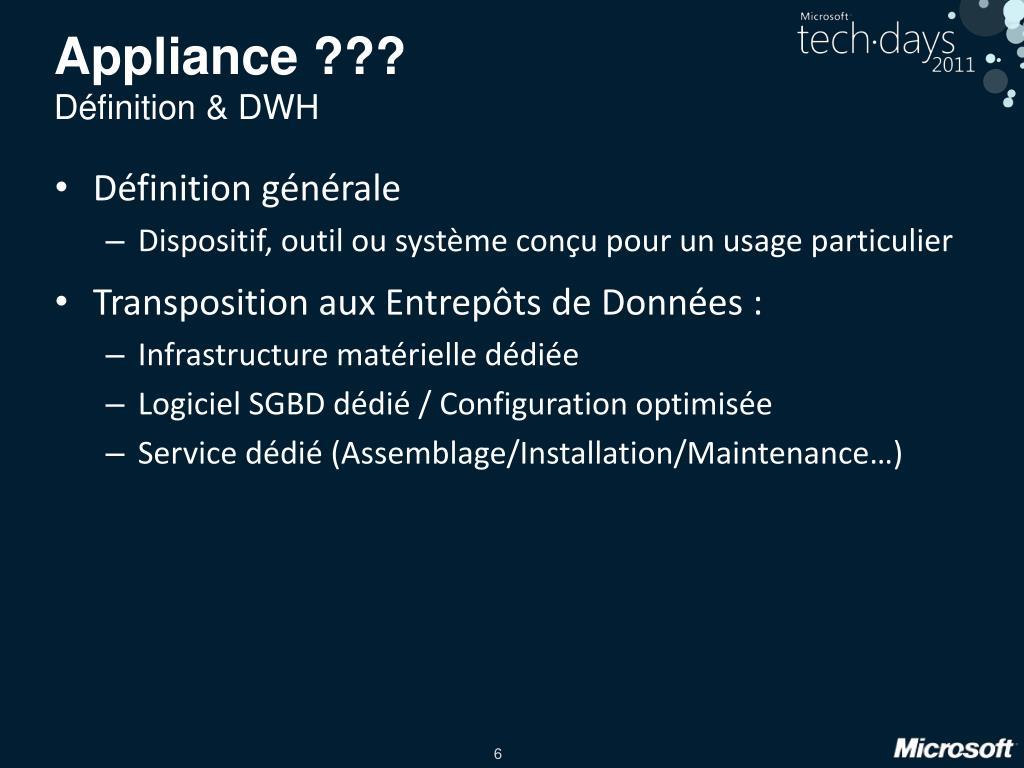 Appliance ???
