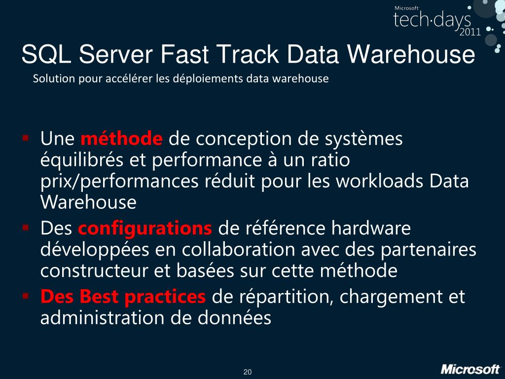 SQL Server Fast Track Data