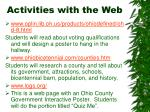 activities with the web15