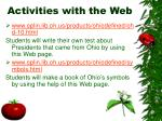 activities with the web18