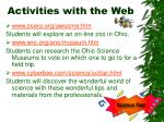 activities with the web26